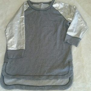 GAP metallic silver sleeved sweater